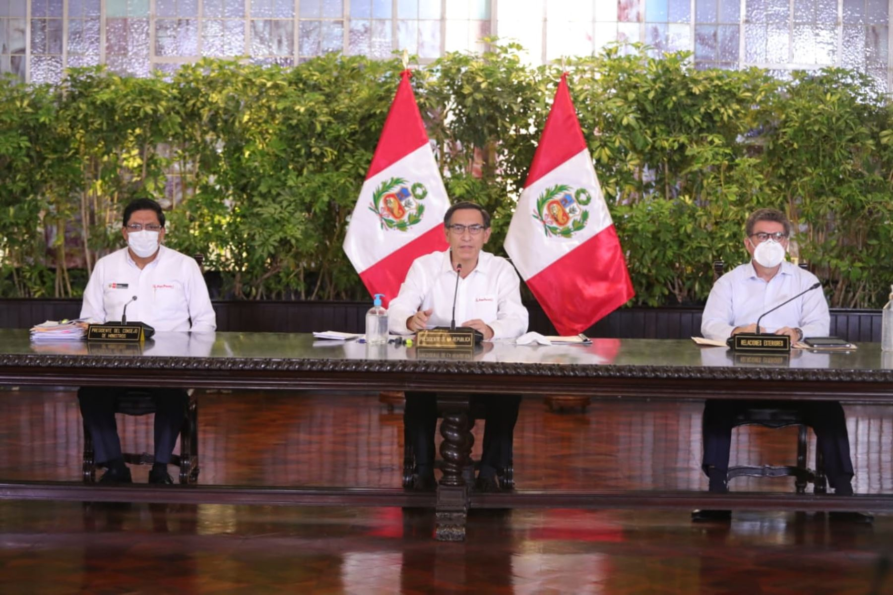 El presidente Martín Vizcarra informa las medidas adoptadas por el Gobierno en el marco del estado de emergencia nacional por el coronavirus (covid-19). Foto: ANDINA/ Prensa Presidencia