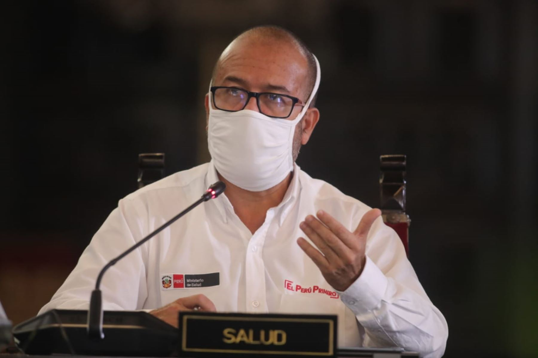 El Ministro de Salud Víctor Zamora, informa las medidas adoptadas por  su sector, en el marco del estado de emergencia nacional por el coronavirus (covid-19). Foto: ANDINA/ Prensa Presidencia