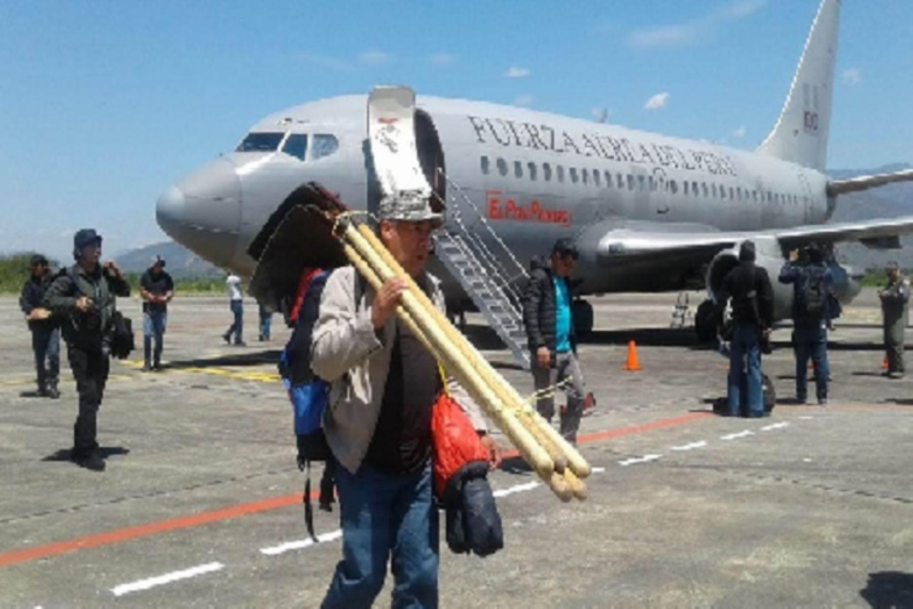 Cientos de personas se trasladaron a sus lugares de origen gracias a los vuelos humanitarios que se realizaron durante el estado de emergencia. ANDINA/Difusión