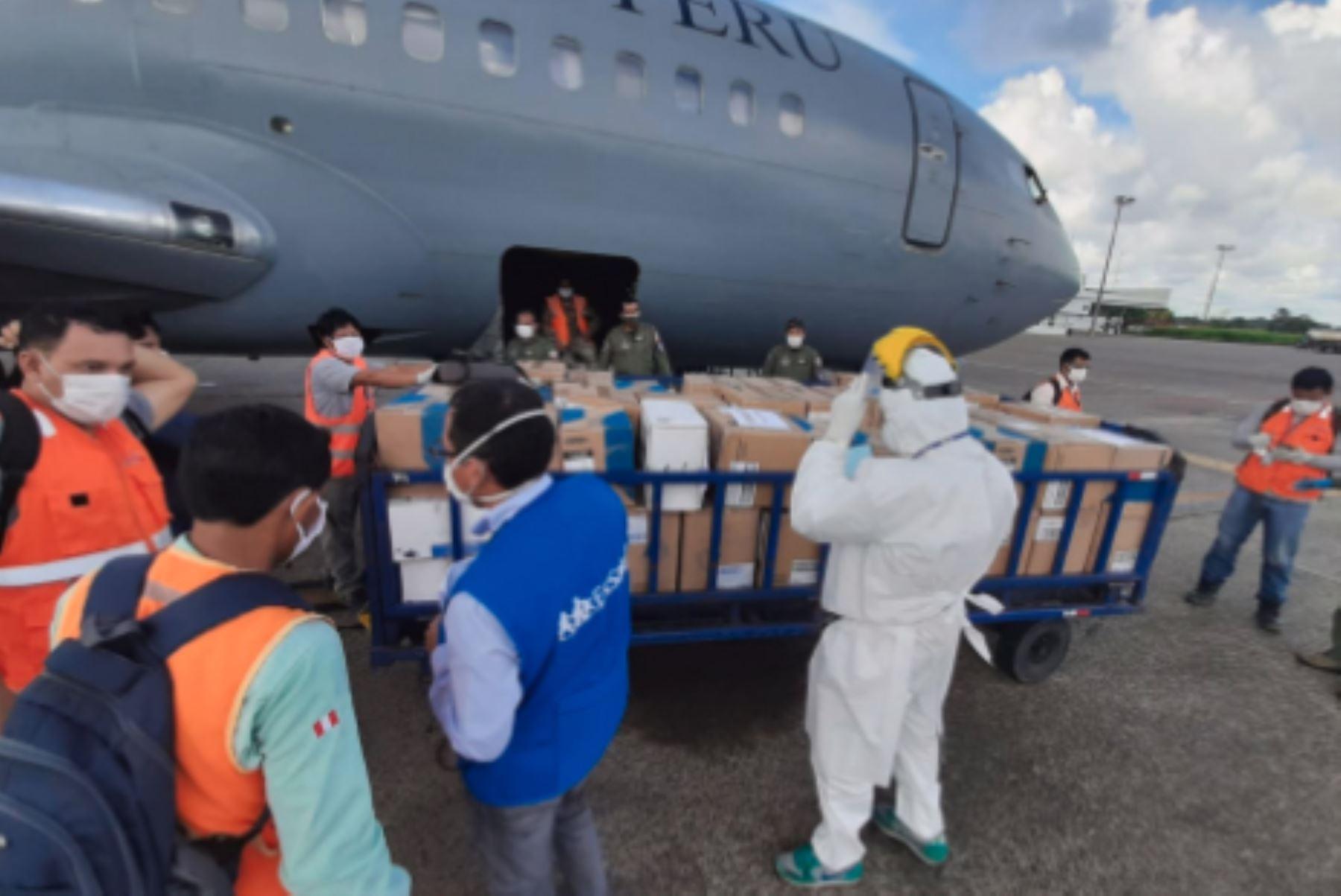 EsSalud Loreto recibió hoy siete toneladas de equipos de protección personal (EPP), implementos y medicinas. Foto: ANDINA/Difusión