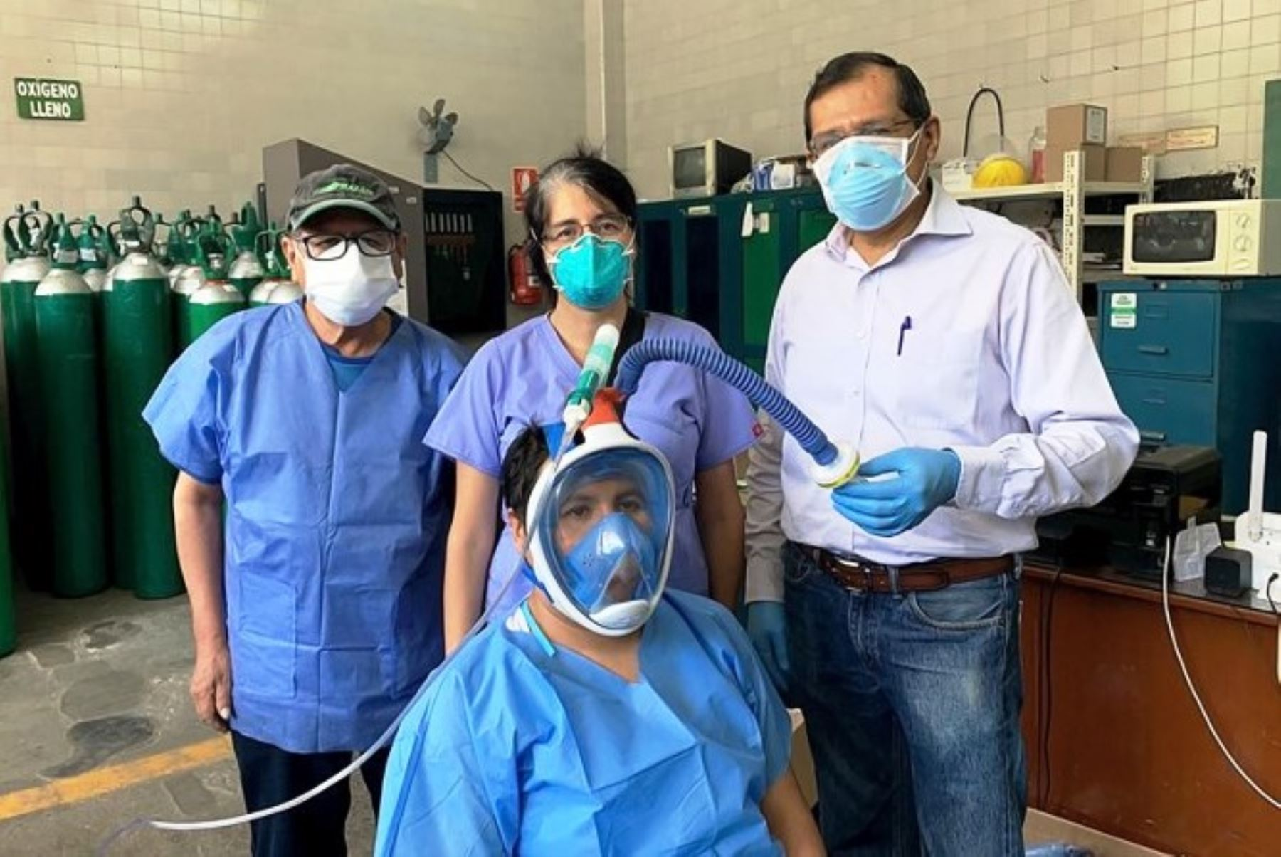 Coronavirus: fabrican respiradores no invasivos a bajo costo. Foto: ANDINA/difusión.