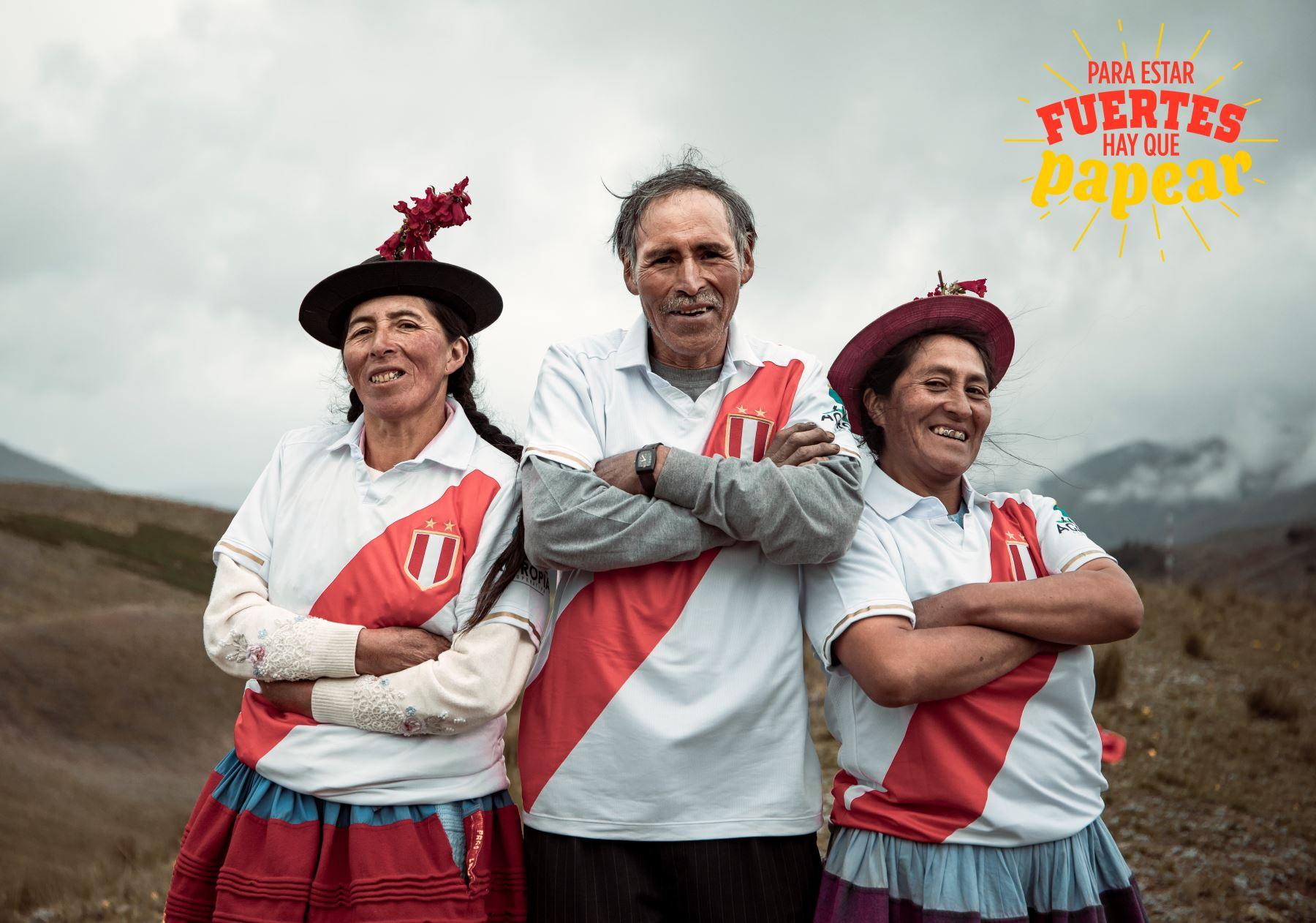 """Ministerio de Agricultura y Riego promueve campaña """"Para estar fuertes, hay que papear"""" para fomentar el consumo de papa peruana. ANDINA/Difusión"""