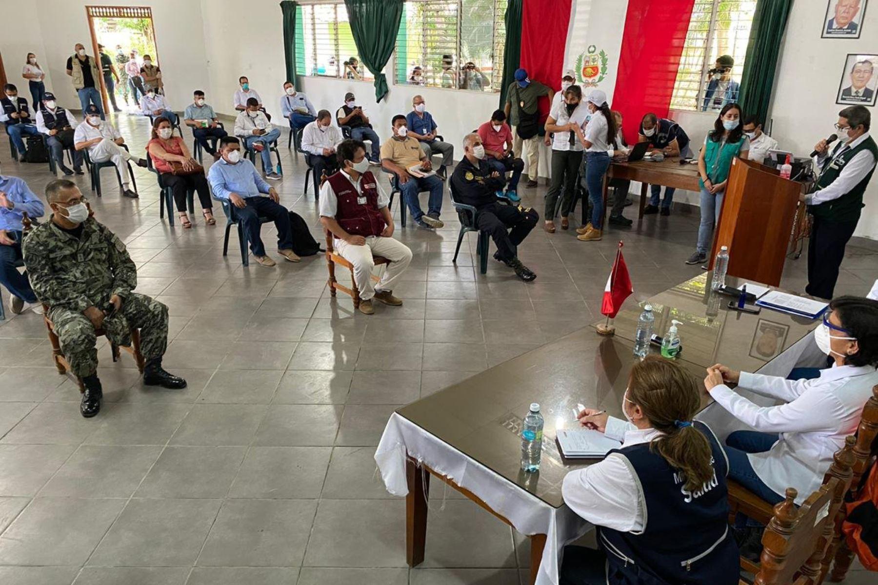 Ministra de Trabajo, Sylvia Cáceres  llega a San Martín para reunirse con el Comando de Acción covid -19 de a fin de  verificar el abastecimiento de insumos médicos a la región. Foto: MTPE