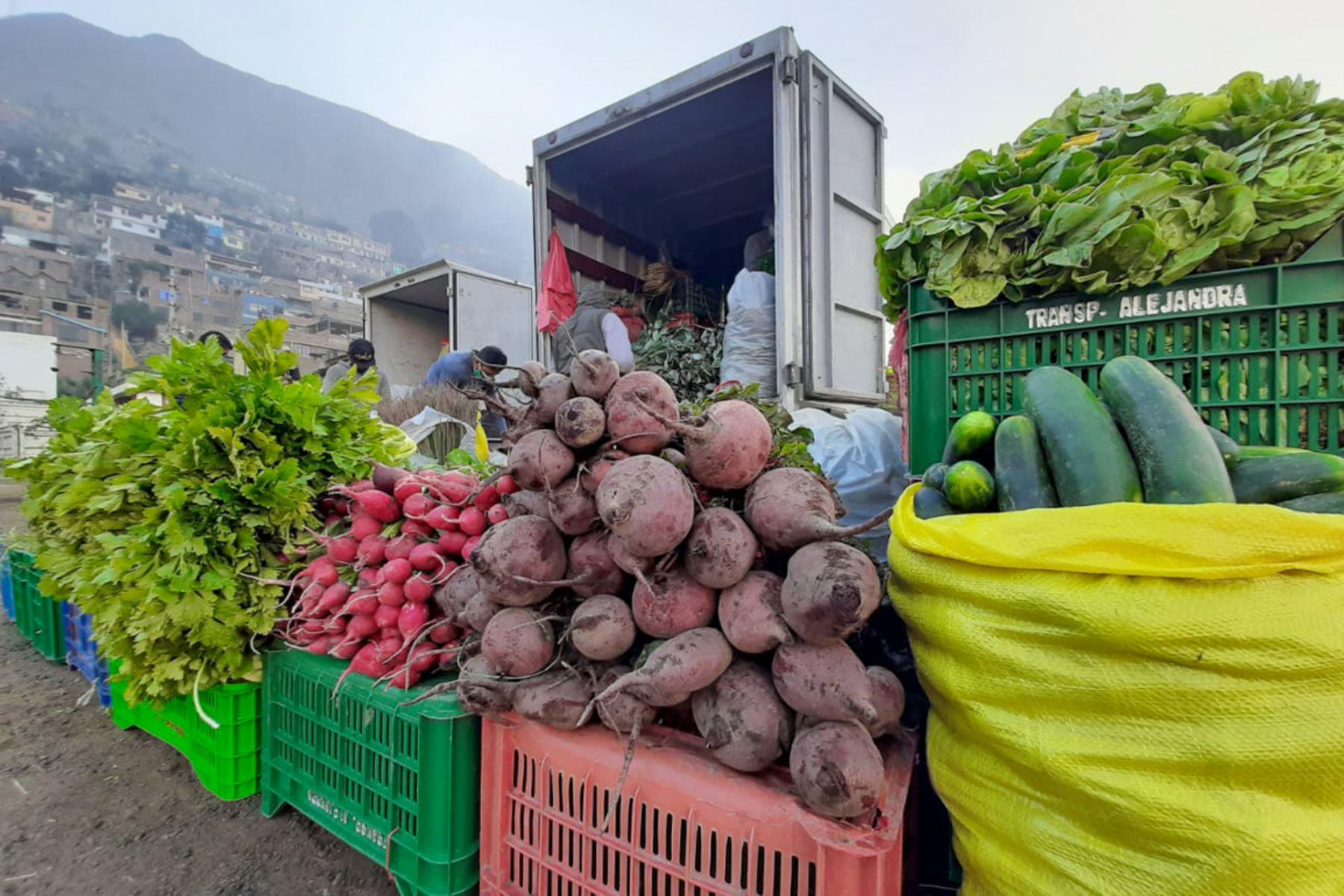 El Mercado Mayorista Movil de la Municipalidad de Lima, que recorre la ciudad con la finalidad de evitar la aglomeración en otros centro de abasto, llegó esta vez al distrito de Lurigancho-Chosica. Foto: ANDINA/Municipalidad de Lima