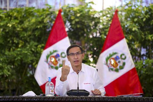 El presidente Martín Vizcarra brinda un pronunciamiento sobre las medidas adoptadas por el Gobierno en el marco del estado de emergencia nacional por el covid-19