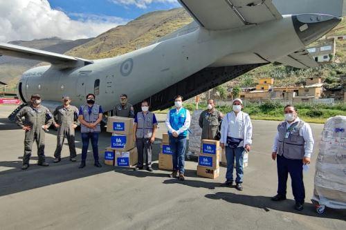 Coronavirus: 6 toneladas de EPP y 2,400 pruebas rápidas llegan a Huánuco