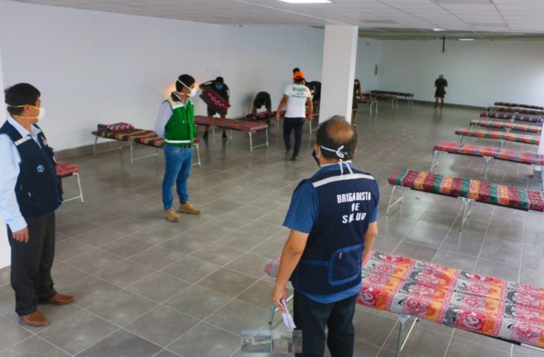 Desde hoy empezó a operar como centro de aislamiento para pacientes covid-19 el local cedido por el Comité Nacional de Administración del Fondo para la Construcción de Viviendas y Centros Recreacionales para los Trabajadores en Construcción Civil del Perú (Conafovicer) en Hualmay, provincia de Huaura.