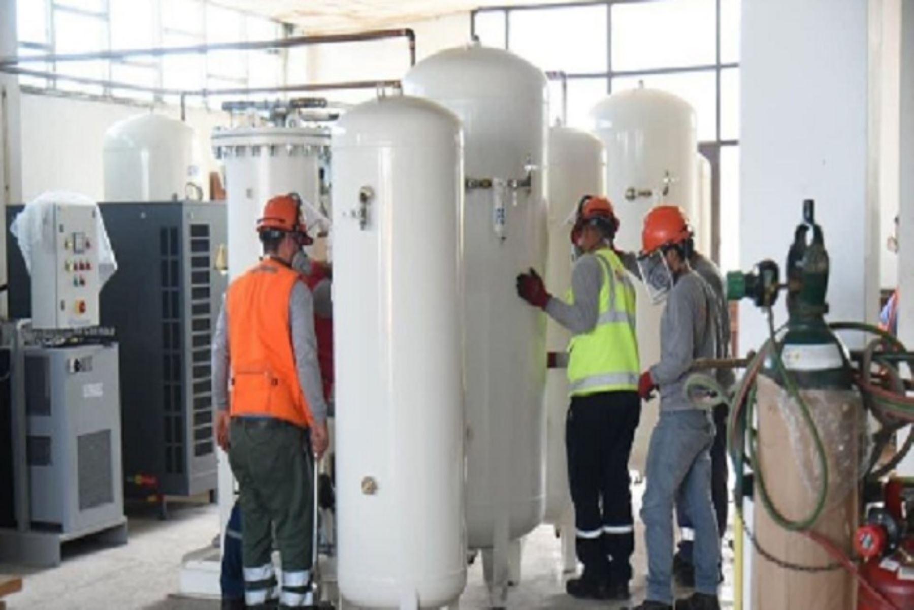 La Municipalidad Provincial del Santa anuncia instalación de planta de oxígeno medicinal en Chimbote, en Áncash. ANDINA/Archivo