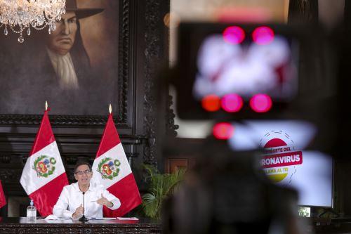 El presidente Martín Vizcarra informa a la ciudadanía los avances de las medidas adoptadas en el marco del estado de emergencia