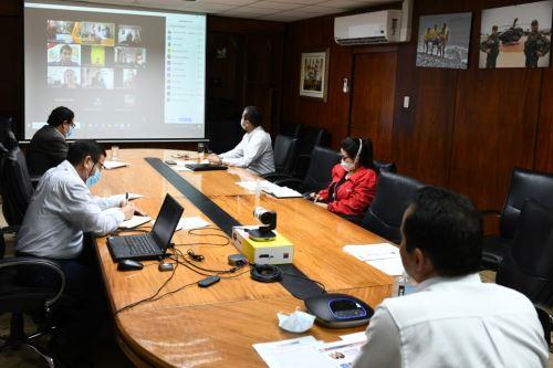 Coronavirus: Ministro del Interior participa en reunión virtual con burgomaestres de Lima Sur