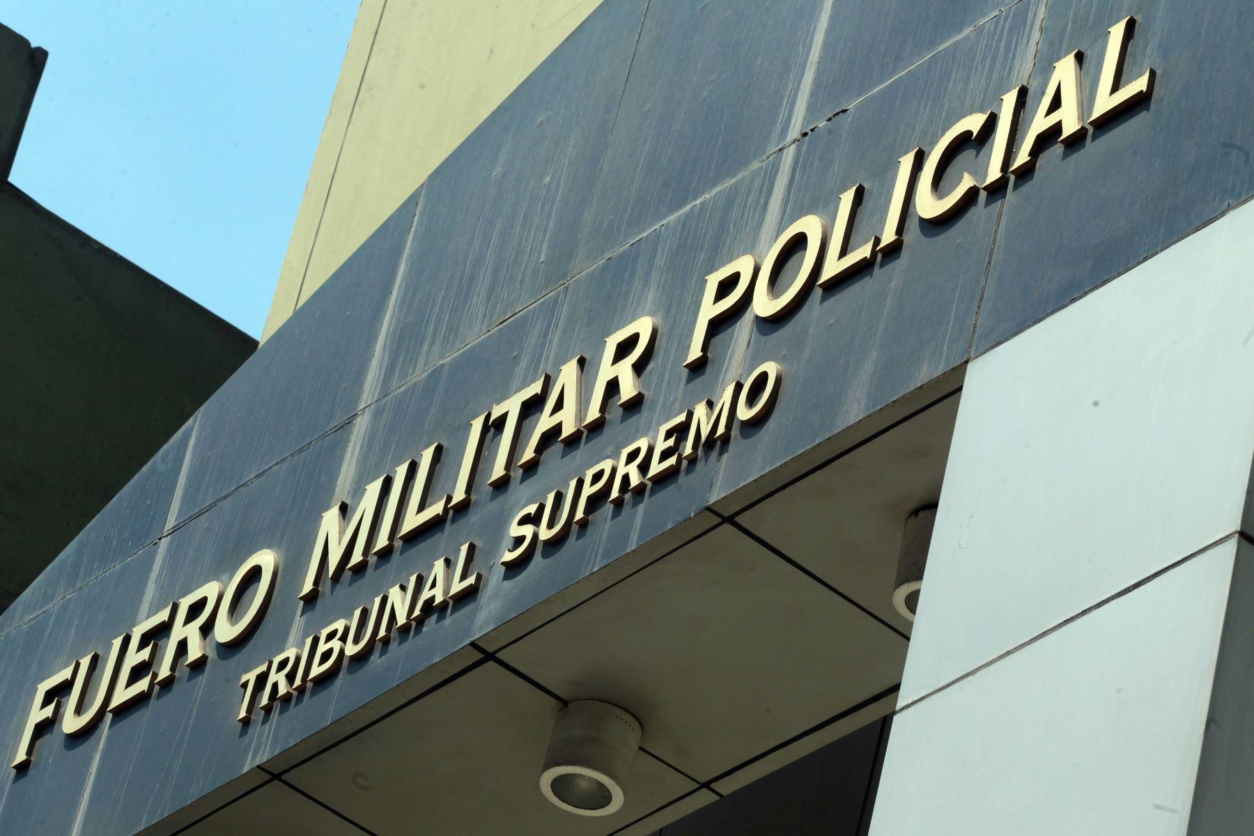 Sede del Fuero Militar Policial. ANDINA/Difusión