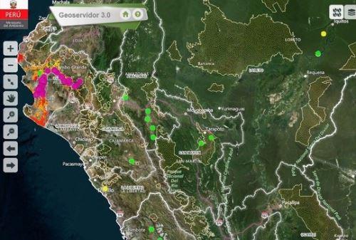 Ministerio del Ambiente y Serfor monitorean en tiempo real las condiciones y estado de conservación de los ecosistemas. ANDINA/Difusión
