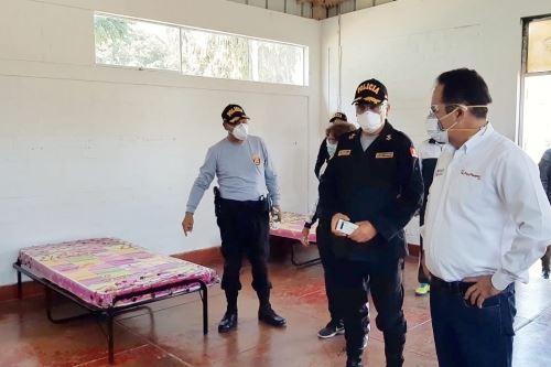 Coronavirus:Ministro del Interior acude a la Escuela de Oficiales y Suboficiales de Policía Nacional de Puente Piedra
