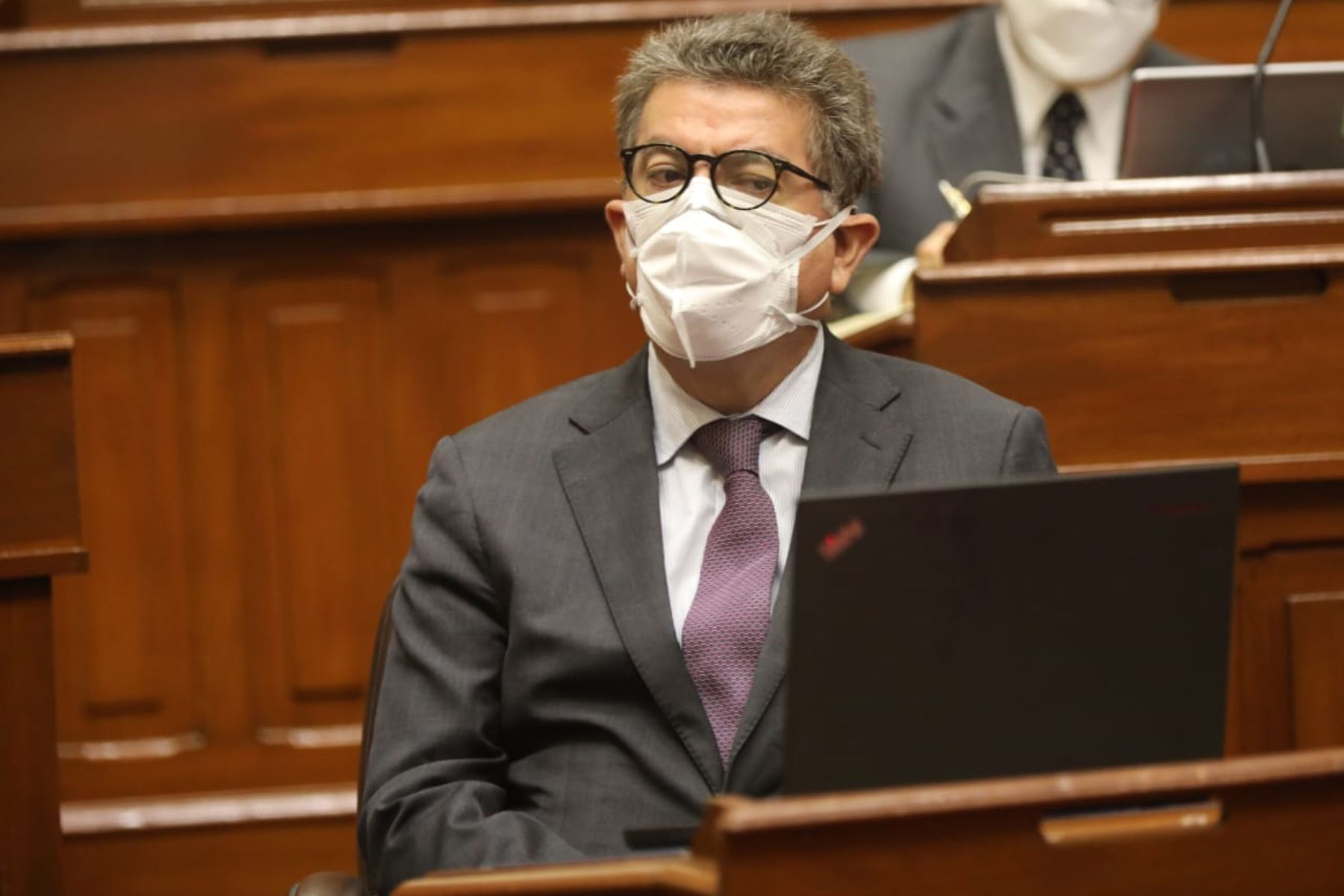 Ministro de Relaciones Exteriores, Gustavo Meza-Cuadra, en sesión del Congreso. Foto: ANDINA/Congreso de la República