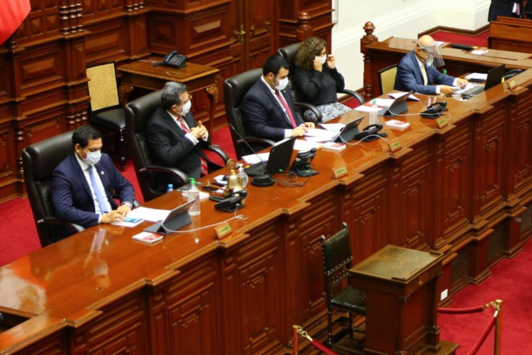 Se reanuda la sesión virtual en el Congreso de la República. Foto: ANDINA/Difusión