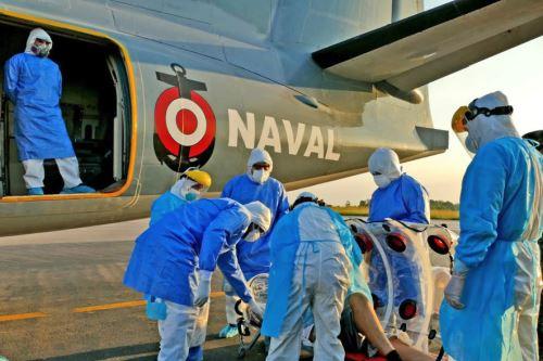 Coronavirus:Evacuación aeromédica de Pucallpa a Lima