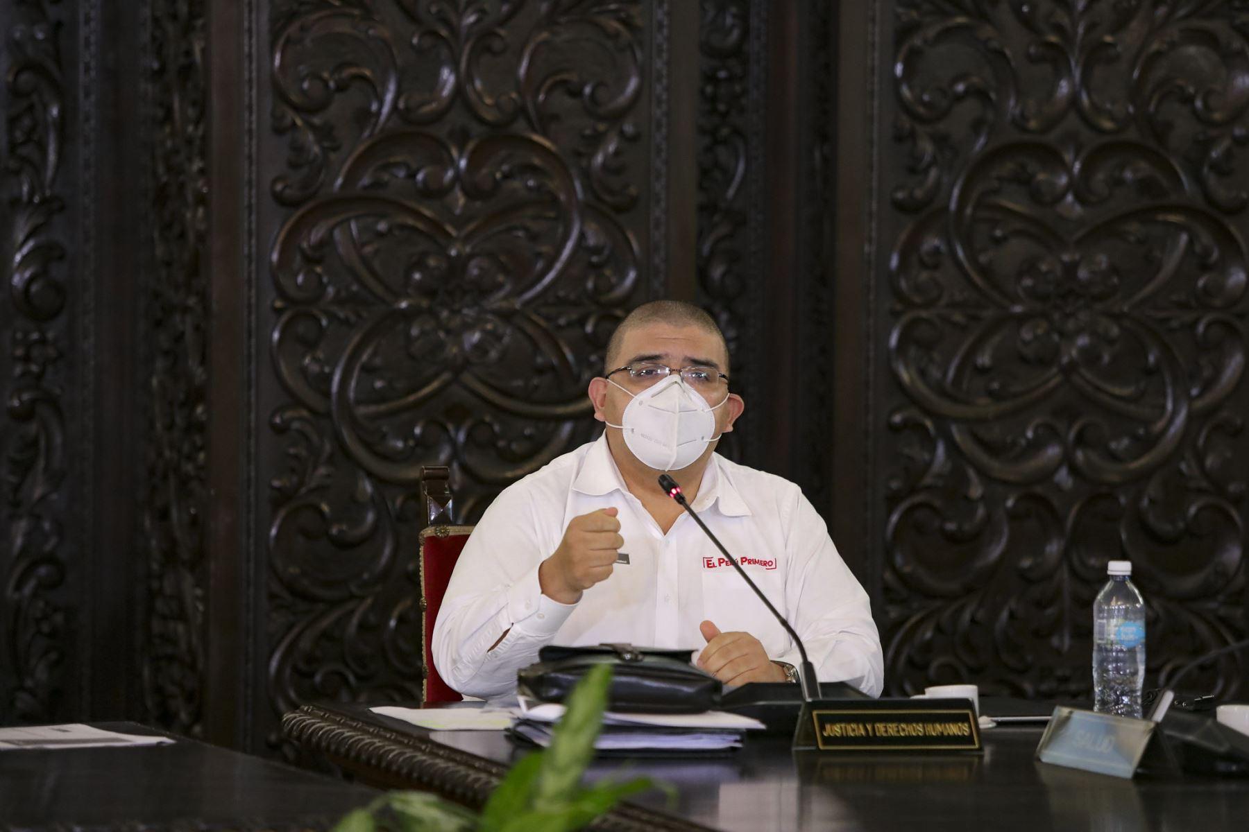 Ministro de Justicia, Fernando Castañeda, participa en conferencia. Foto: ANDINA/Prensa Presidencia
