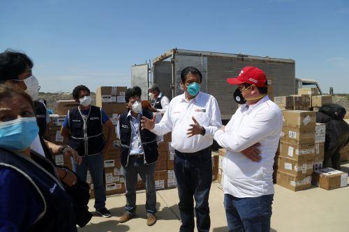 Coronavirus: ministro de Vivienda supervisa el envío de equipo médico a la región Piura