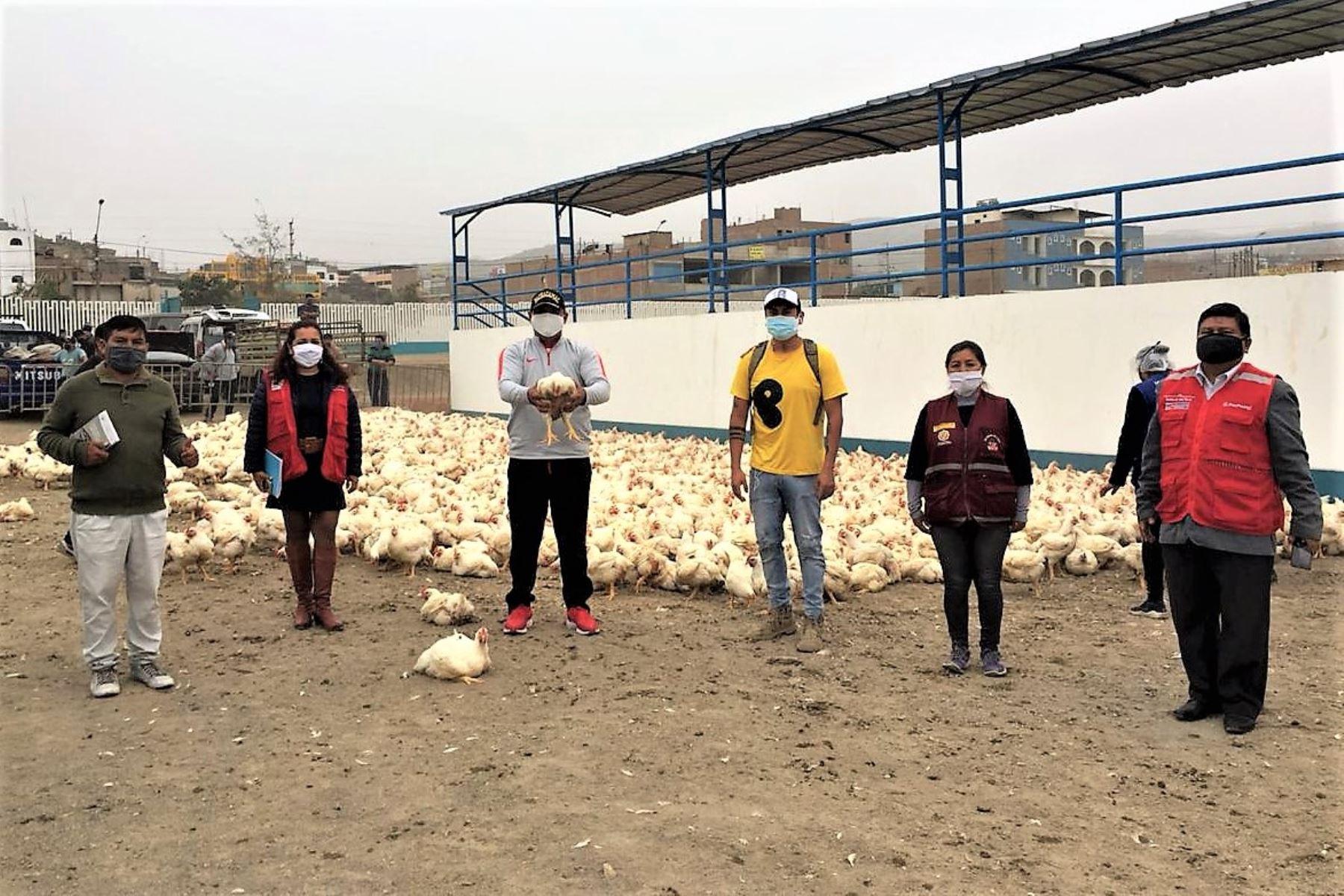 Donación de pollos en favor de familias vulnerables ante el covid-19 en el distrito de Pachacámac.