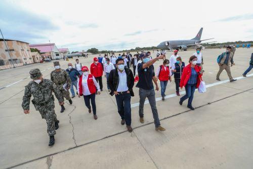 Coronavirus: Ministros de Estado arriban a Piura para evaluar situación de la pandemia en la región