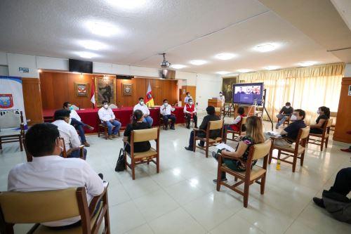 Coronavirus: Jefe del Gabinete se reúne con autoridades y representantes de Piura