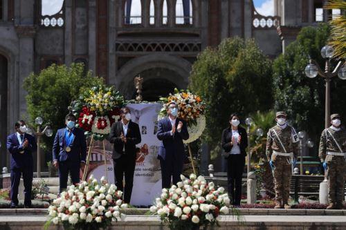 El Presidente de la República, Martín Vizcarra, preside la ceremonia por los 50 años del Terremoto del 31 de mayo de 1970