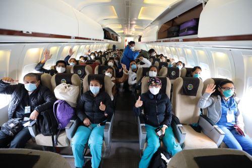 Coronavirus: 37 profesionales de la salud regresaron a Iquitos para combatir pandemia