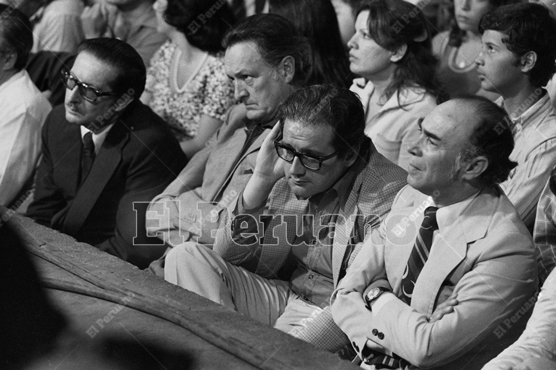 Lima - 18 diciembre 1978 / Javier Alva Orlandini, Manuel Ulloa Elías y Manuel d