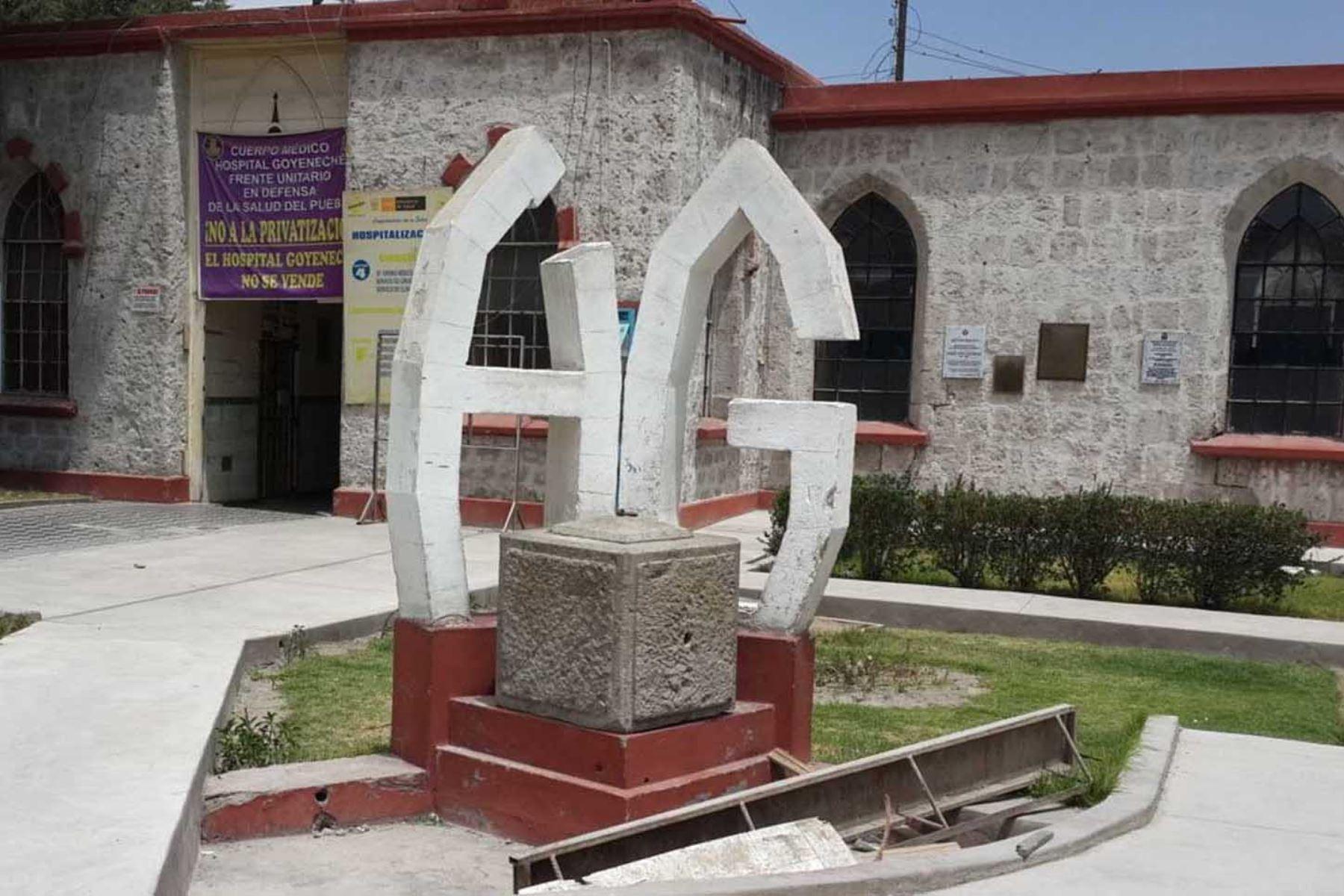 El Hospital Goyeneche de Arequipa fue declarado monumento mediante la Resolución Suprema N° 2900-72-ED, del 28 de diciembre. Foto: ANDINA/Difusión