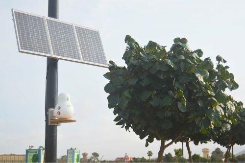 """Los módulos """"qHAWAX"""" monitorean los parámetros monóxido de carbono (CO), dióxido de nitrógeno (NO2), dióxido de azufre (SO2), entre otros."""