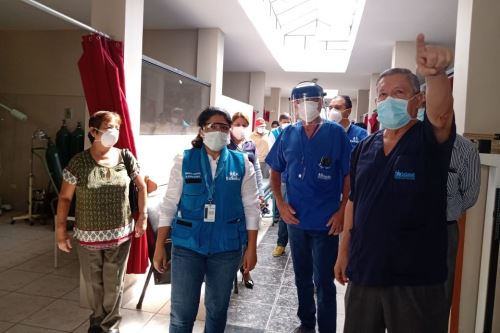 Coronavirus: EsSalud supervisa el acondicionamiento y remodelación del hospital de Tumán en Lambayeque