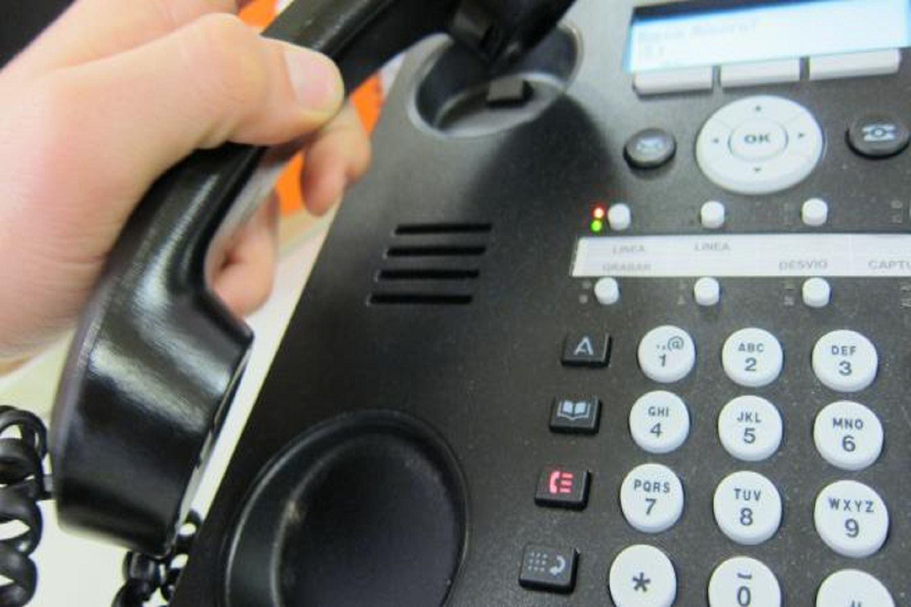 Servicio de telefonía.