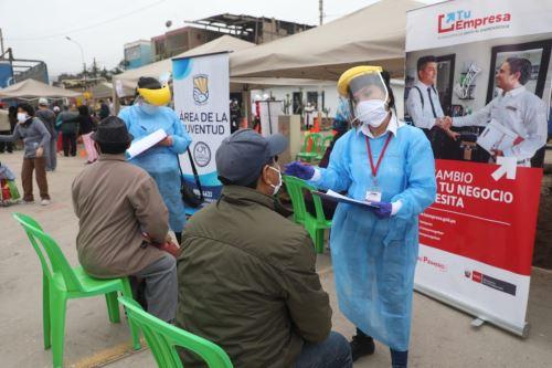 """Coronavirus: Viceministerio de Mype y programa  """" Tu Empresa """" participan  en jornada de formalización en Villa El Salvador"""
