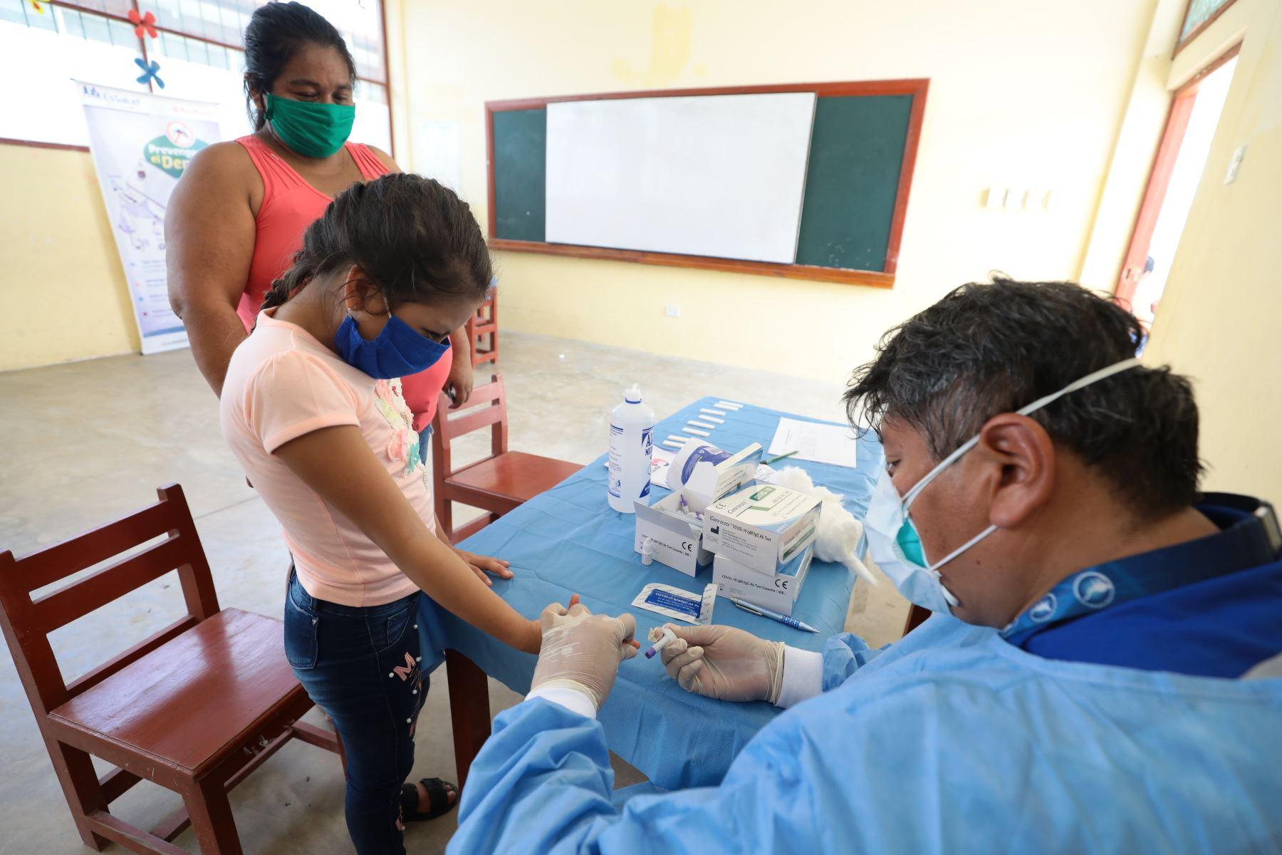 Campañas de acción cívica en las comunidades de Santa Rosa del Yavarí y Caballococha en la frontera tripartita de Perú, Brasil y Colombia.Foto ANDINA/EsSalud