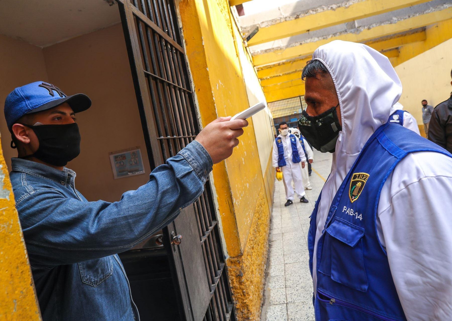 Inpe descarta casos positivos de coronavirus en 37 establecimientos penales del país, gracias a la aplicación de un plan que busca evitar la propagación de la enfermedad en dichos lugares. ANDINA/Difusión