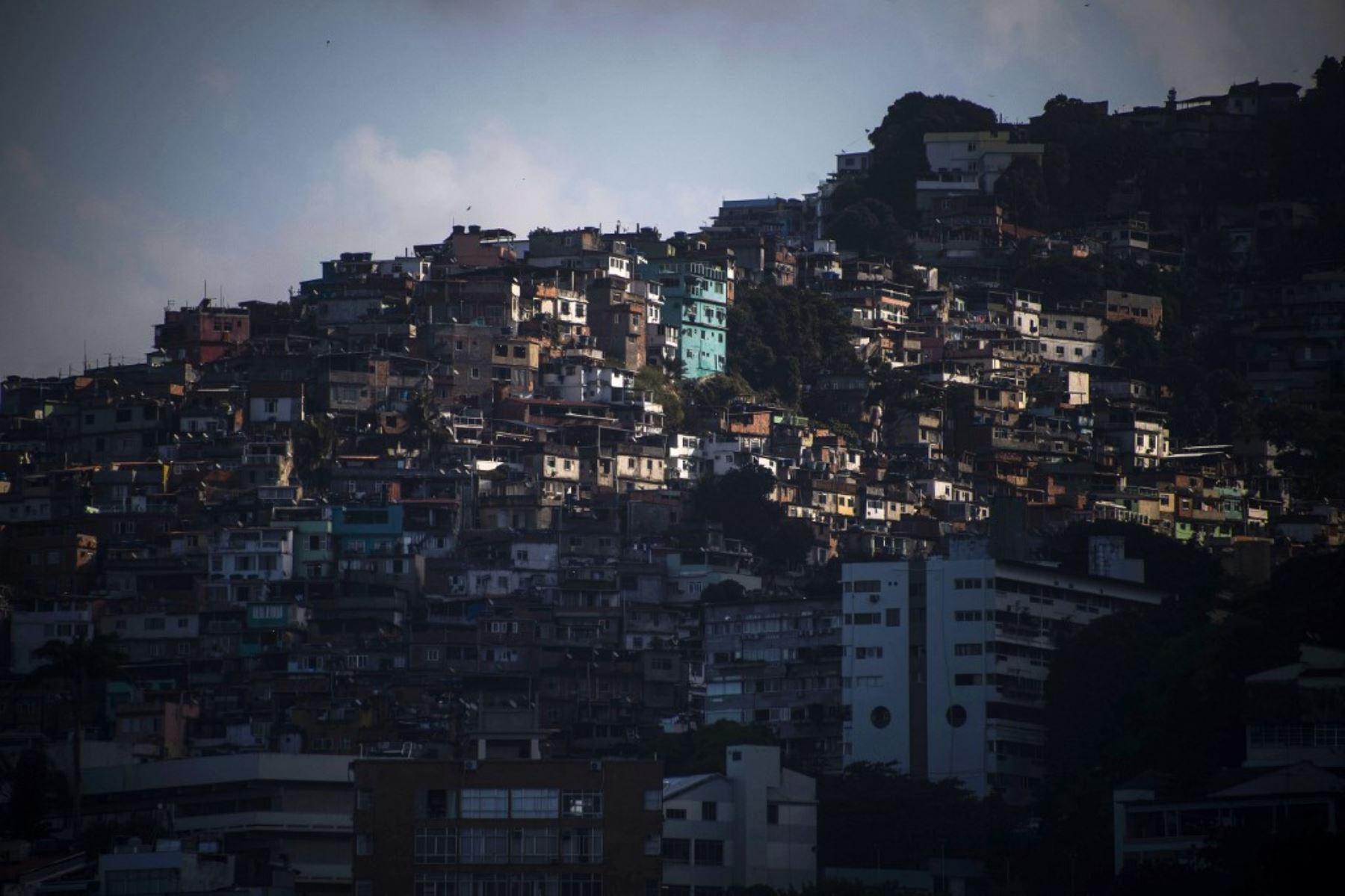 Vista de la favela Vidigal en el estado de Río de Janeiro, Brasil. Foto: AFP