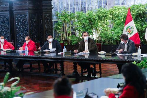 Presidente Martín Vizcarra encabeza sesión del Consejo de Ministros