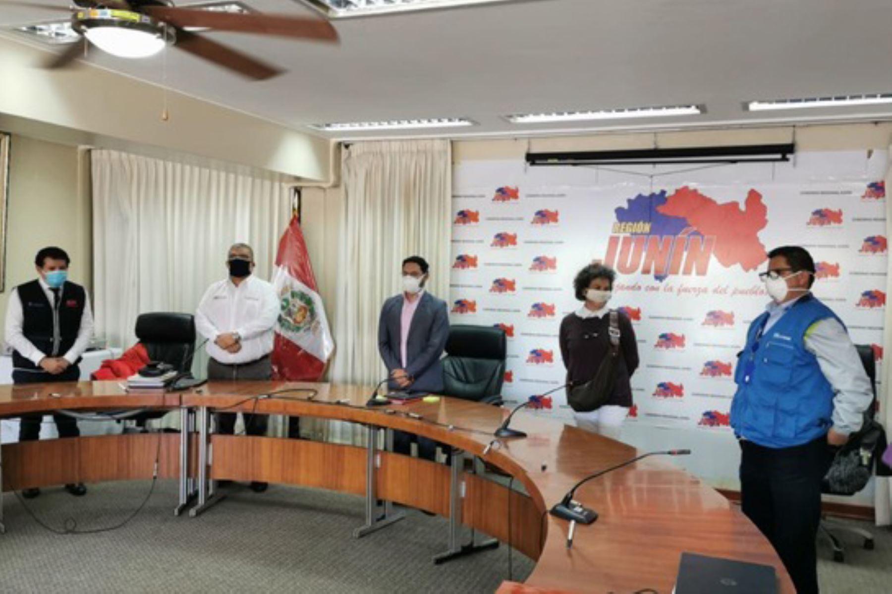 El Estado fortalece la atención a covid-19 en la región Junín, afirmó el ministro de Justicia, Fernando Castañeda. Foto: Minjusdh