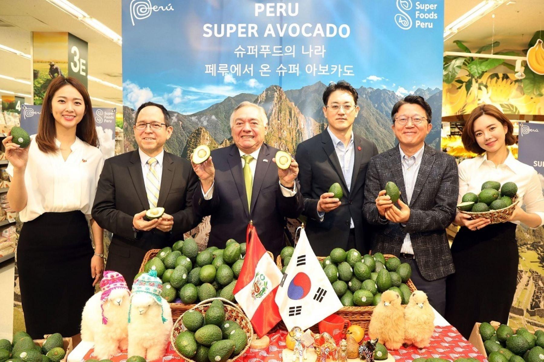 Palta peruana en Corea del Sur. Foto: Cortesía.