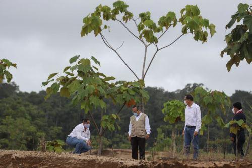 El presidente Martin Vizcarra visita la Reserva Nacional Tambopata