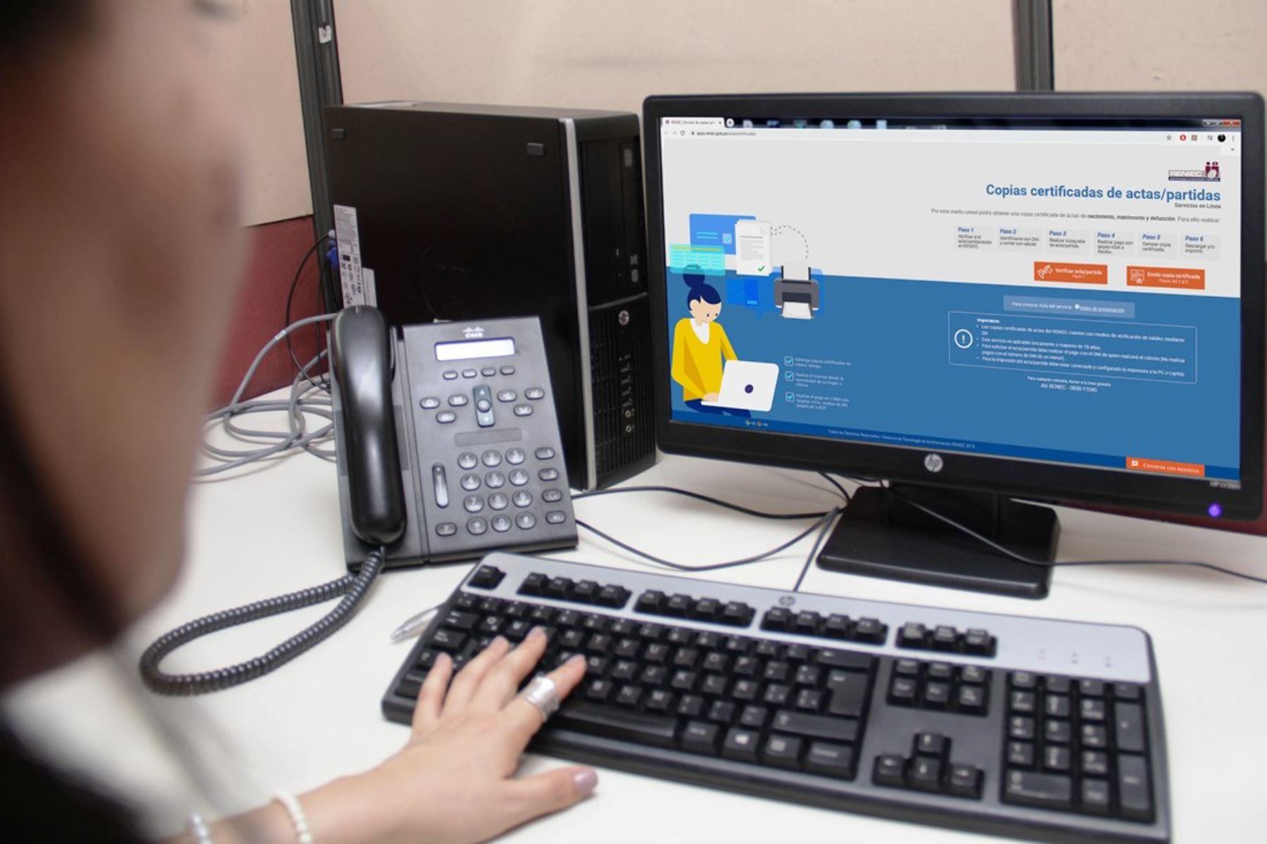 Reniec inscribe defunciones electrónicas en forma automática durante cuarentena. Foto: ANDINA/Difusión.