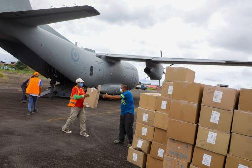 Coronavirus: Ministerio de la Producción traslada 4 toneladas de material médico y medicinas a Loreto