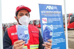 La campaña de distribución de mascarillas a taxistas se extenderá hasta el 30 de junio, informó la ATU. Foto: ANDINA/Difusión
