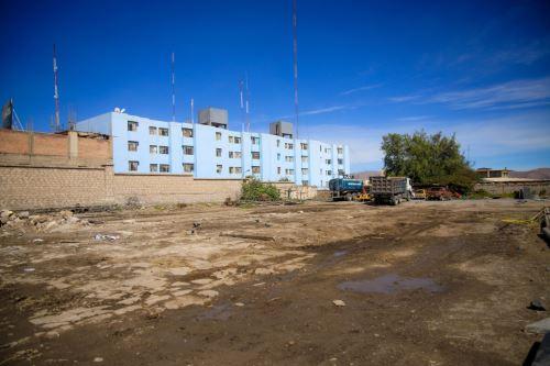 Acondicionan terreno para instalar hospital temporal para pacientes covid-19 en la región Arequipa. Foto: Difusión