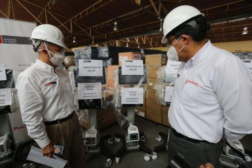 Coronavirus: premier y ministro de Salud realizan entrega de 50 ventiladores mecánicos