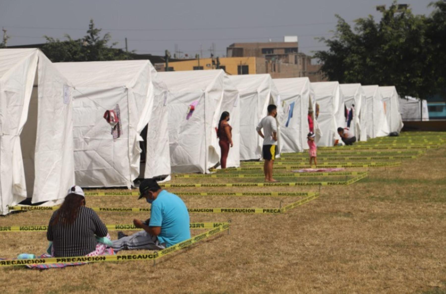Albergue para huancavelicanos varados en Lima, donde cumplen la cuarentena sanitaria necesaria antes de retornar a su región de origen.