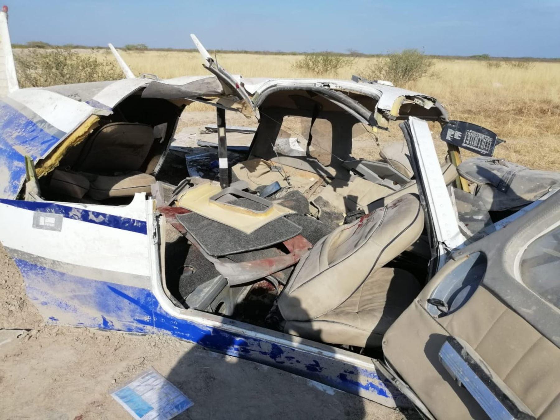 Uno de los pasajeros de la avioneta ecuatoriana accidentada en Tumbes será expulsado del país. ANDINA/Difusión