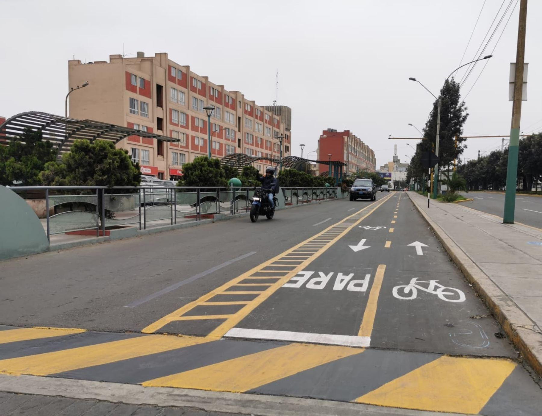 """Proyecto intermodal """"Yo me Muevo en bici"""", una importante alternativa de transporte para evitar masivos contagios del covid-19 en el transporte público de Lima. Foto: Municipalidad de San Borja"""
