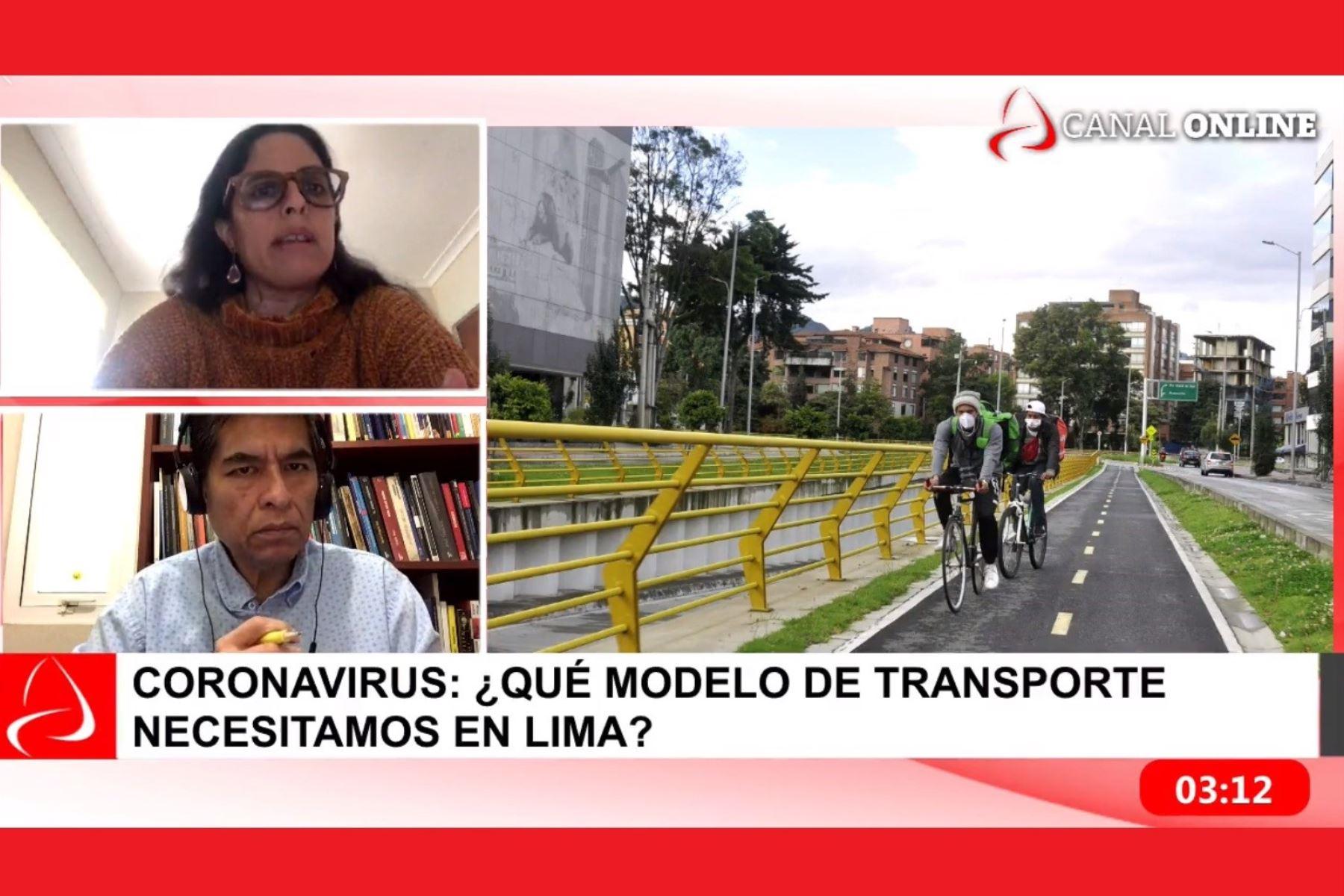 Directora ejecutiva del observatorio Lima Cómo Vamos, Mariana Alegre, entrevistada en Andina al Día de la Agencia Andina.