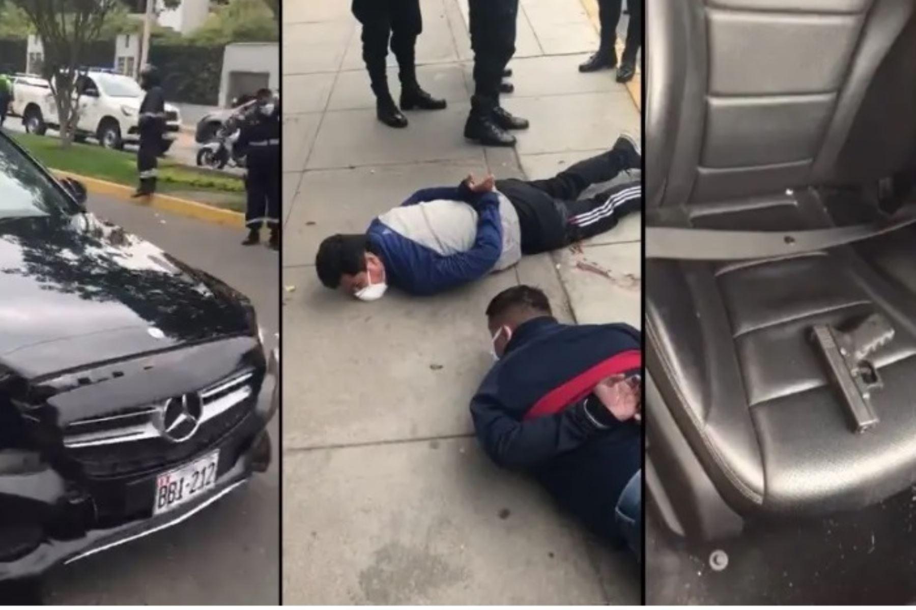 San Borja: Policía detiene a tres delincuentes tras persecución y balacera. Foto: ANDINA/Difusión.